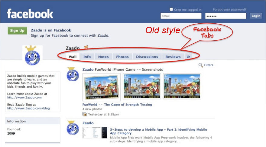 how to see how old your facebook page is