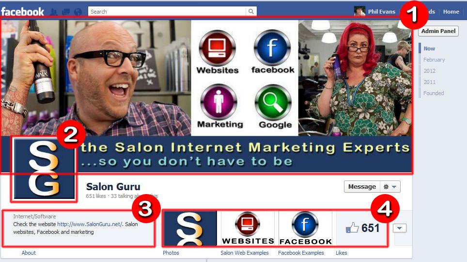 Facebook Timeline for Salons