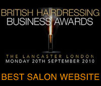 Winner of Best Salon Website at the British Hairdressing Awards – twice