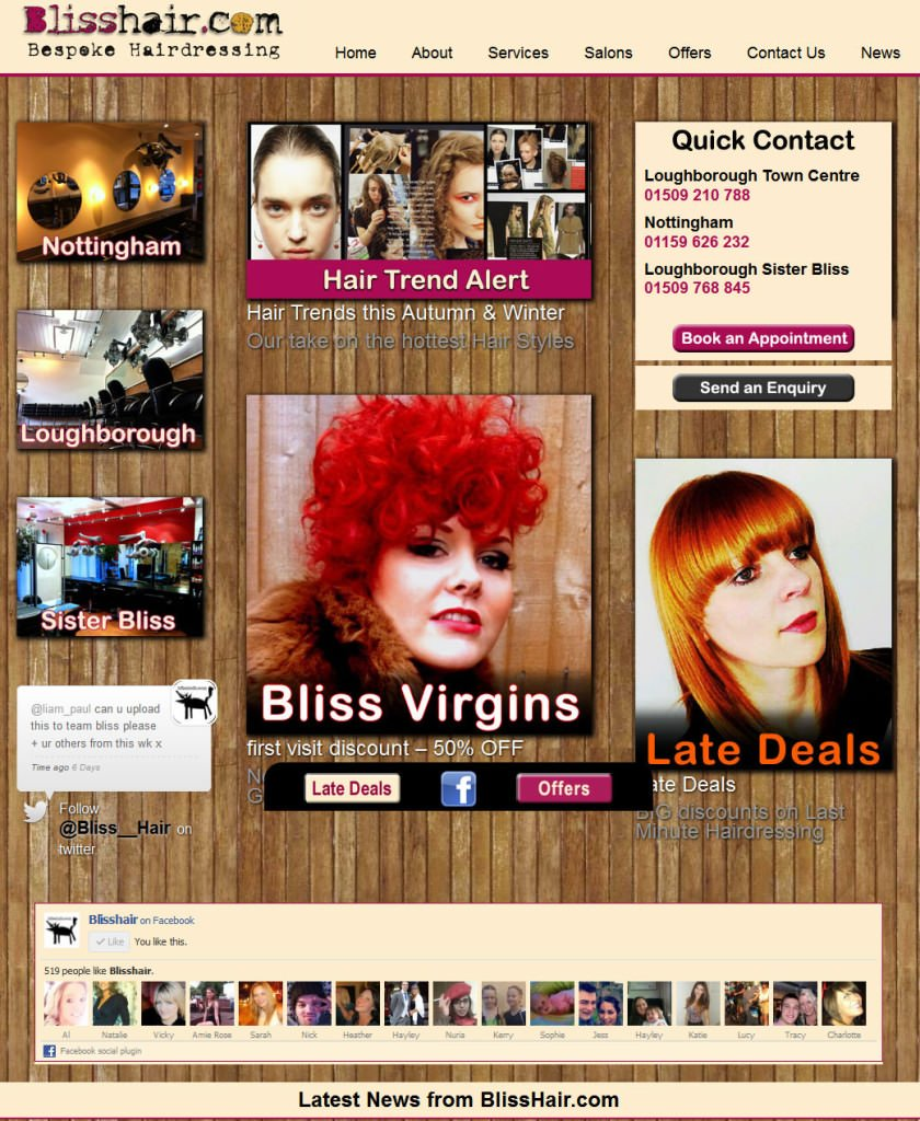 Bliss website