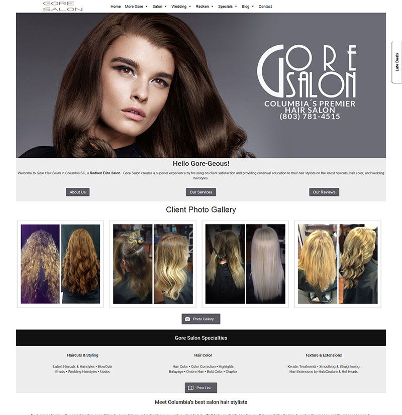 Salon website design checklist view all our salon websites urmus Images