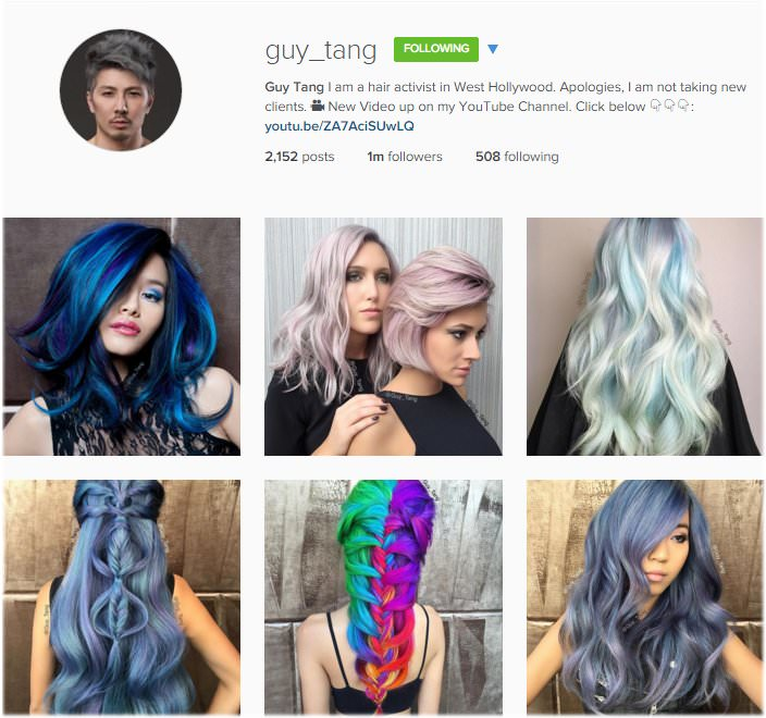 The top 14 hair salon instagram accounts to follow for Guy tang salon