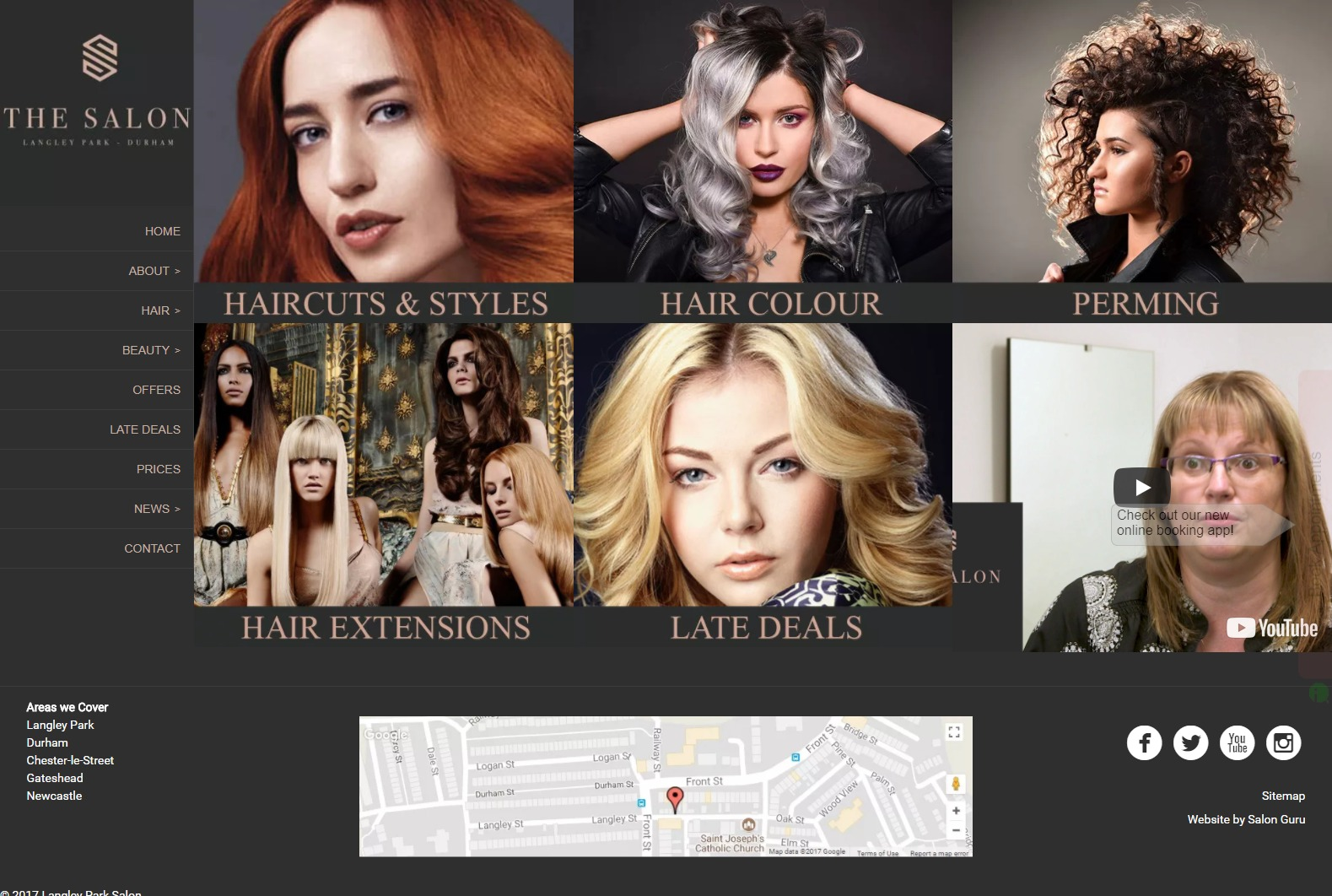 Our salon website & marketing clients in the UK & USA