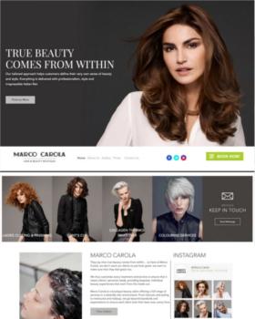 hair saloon websites
