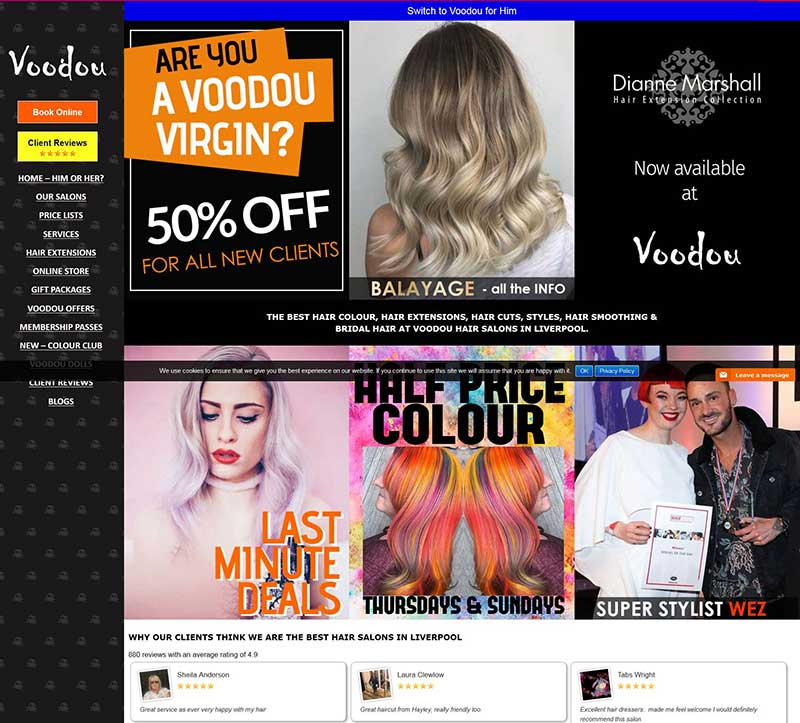 Voodou salon website