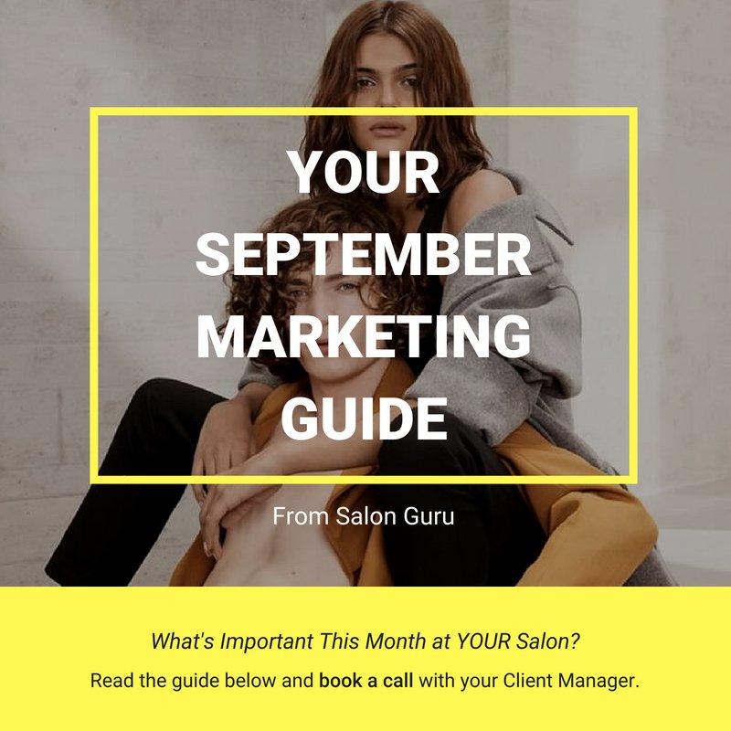september marketing for salons