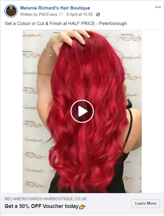 Melanie-salon-facebook-advert