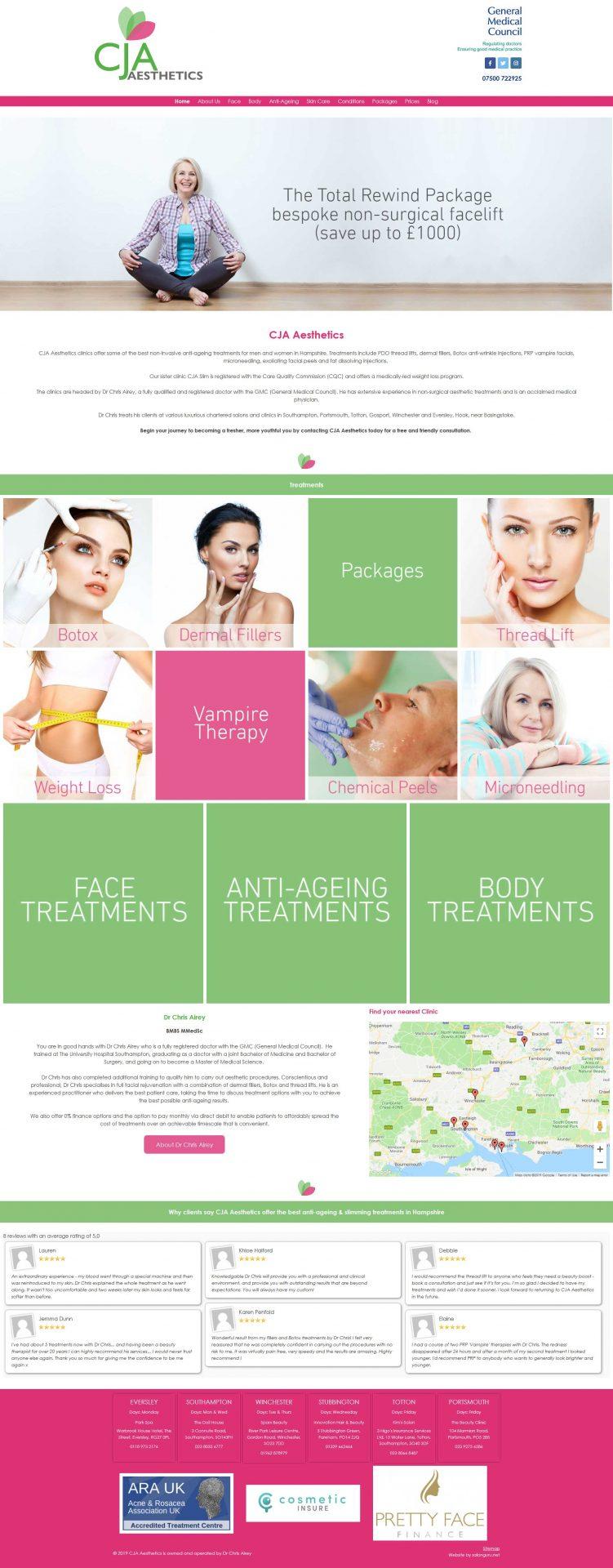 Aesthetic-Clinic-and-Beauty-salon-website-UK