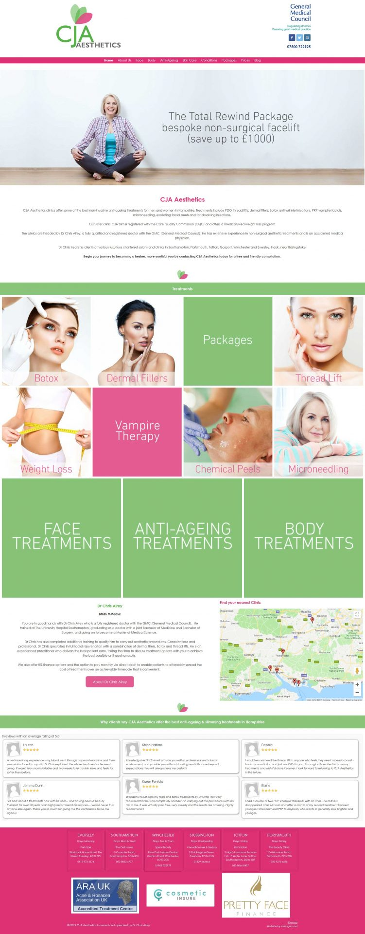 Aesthetic-Clinic-and-Beauty-salon-website-UK