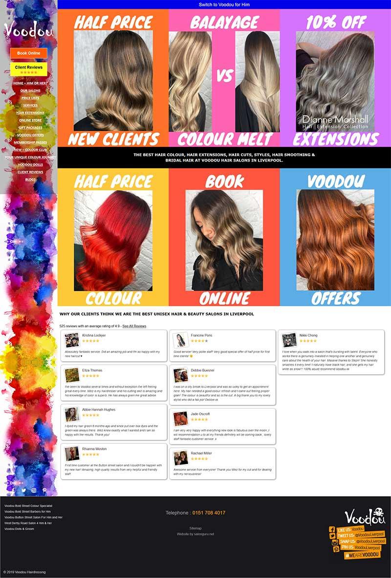 Voodou-Hair Salons-Website
