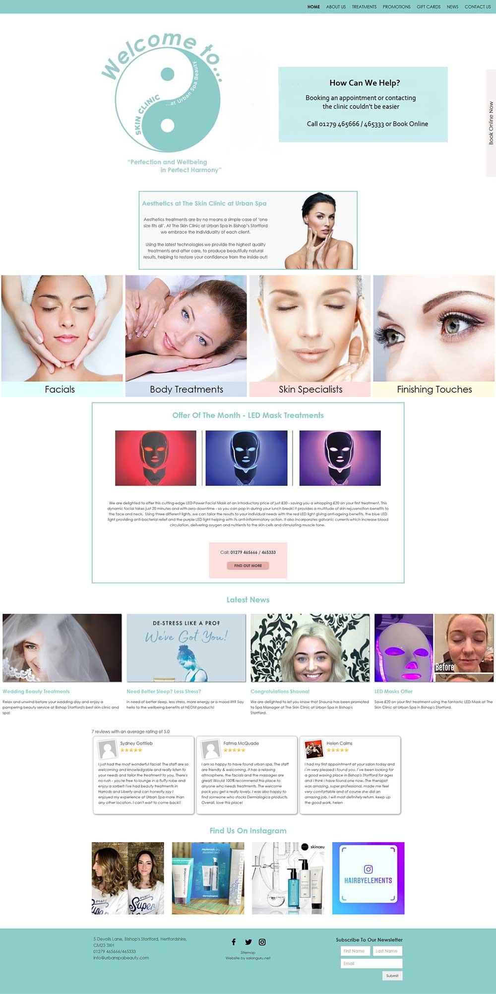 Skin-Clinic website