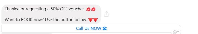 Step 6 Messenger reminder 1 hour