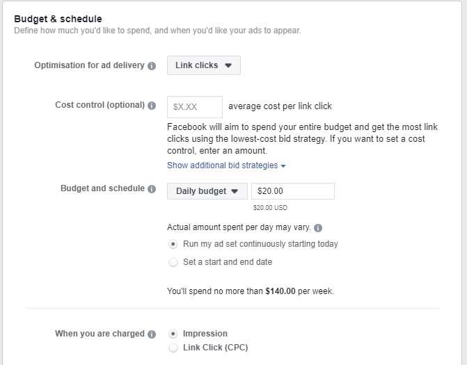 advert budget