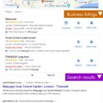 google search for salons