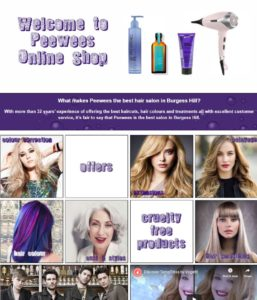 Peewees Burgess Hill Hairdressing Salon Home Page