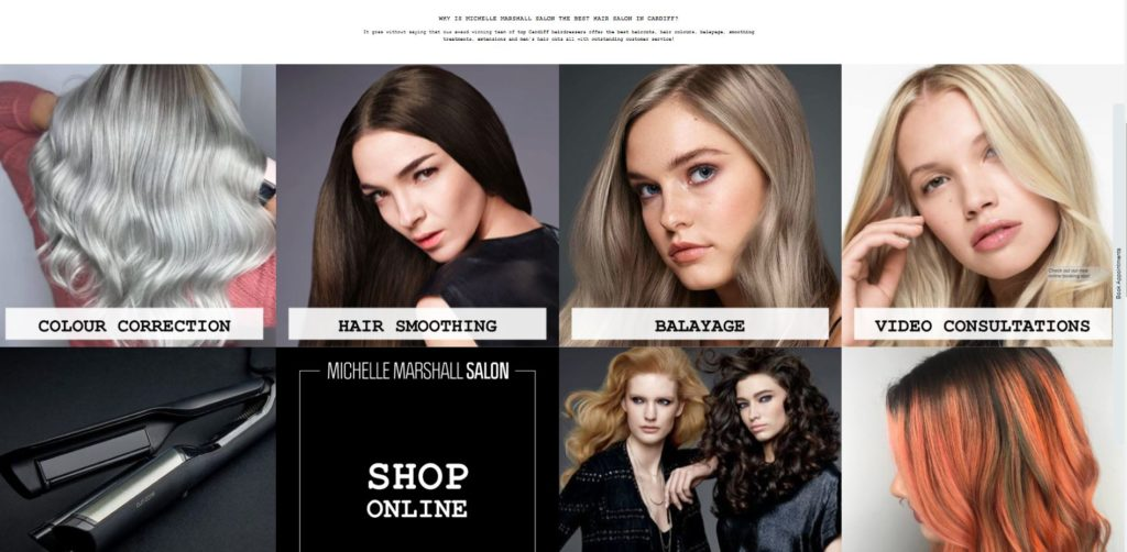 Michelle Marshall Cardiff hairdressers home page